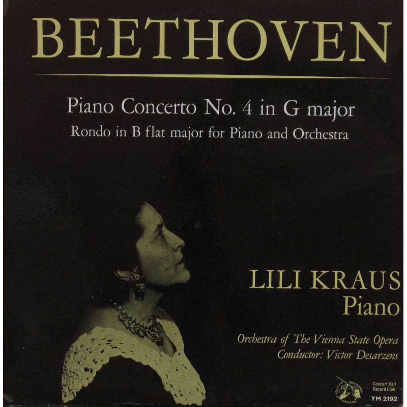 Lili Kraus, Orchestra Of The Vienna State Opera, Victor Desarzens - Beethoven Piano Concerto No. 4 in G major